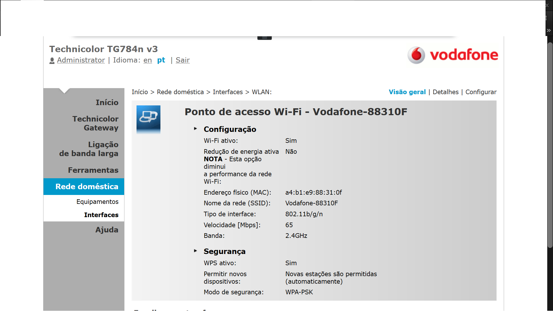 ROUTER RESTRINGE VELOCIDADE WIRELESS - Página 2 - Forum Vodafone